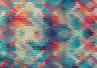 Wall mural flat design geometric colorful background
