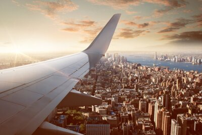 Wall mural Flight over New York City