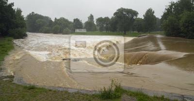 flood on river