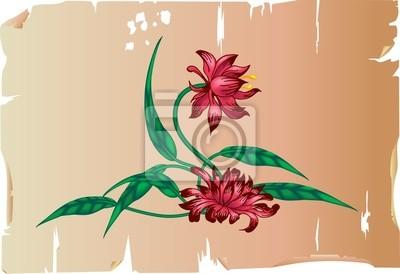 floral design element on parchment