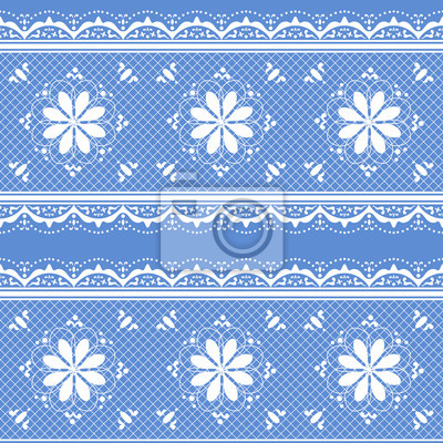 Wall mural Floral lace pattern for design