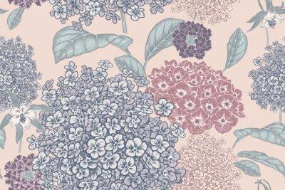 Wall mural Floral pastel color background. Vintage seamless pattern. Vintage. Vector.