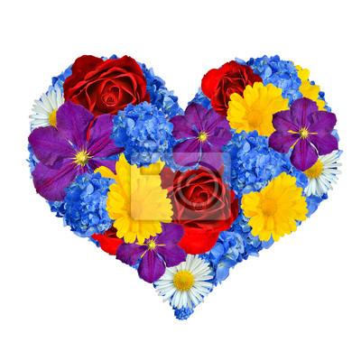 flower heart isolated