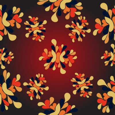 Wall mural Flowers abstract pattern