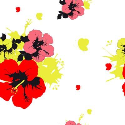 Wall mural flowers design
