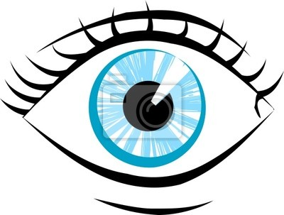 focused eye