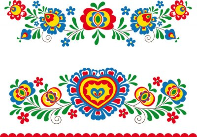Wall mural Folk ornaments