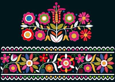 Wall mural Folk Slovak ornaments