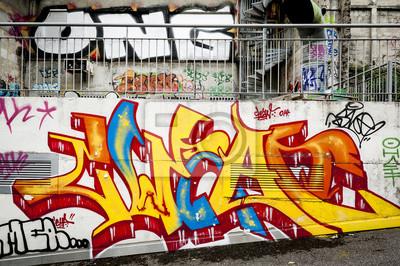 Wall mural Fond mur de graffitis