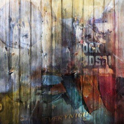 Wall mural Fond planches de bois - Concept