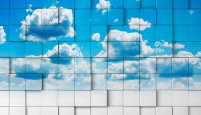Wall mural fondo 3d con cielo.