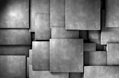 Wall mural fondo abstracto 3d,bloques de cemento