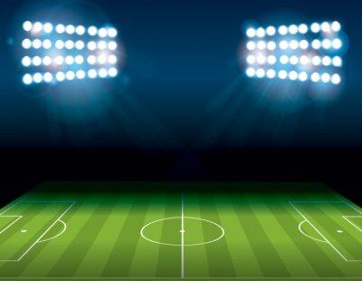 Wall mural Football American Soccer Field Illuminated Illustration