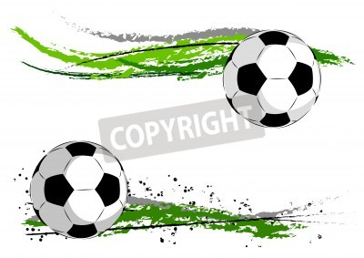 Wall mural Football on the green abstract