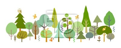 Wall mural forest-A