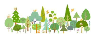 Wall mural forest-D