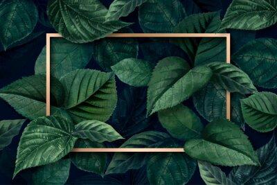 Wall mural Forest leaf frame