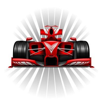 Wall mural Formula 1 Red Racing Car