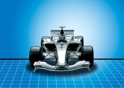 Wall mural formula one, speed concept