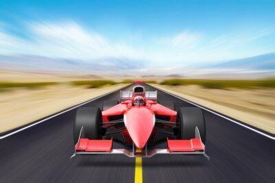 Wall mural Formula race red car