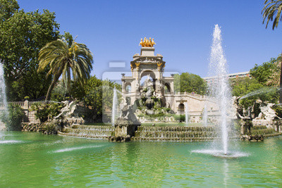 Wall mural Fountain in Parc De la Ciutadella in Barcelona, Spain