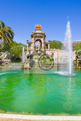 Fountain in the Parc de la Ciutadella, Barcelona, Spain