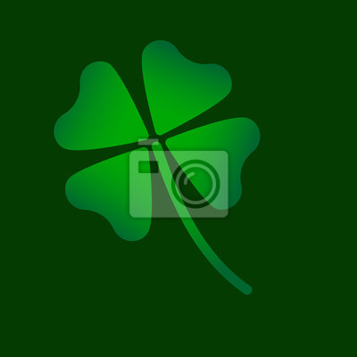 four leaf clover green symbol icon vector version