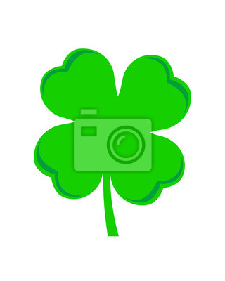 four leaf clover green  vector symbol icon