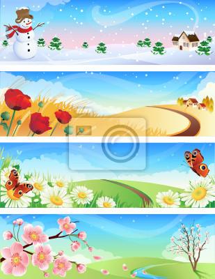 four seasons landscape
