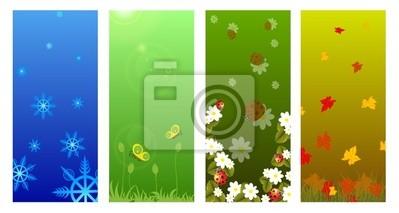 four seasons: winter, spring, summer, autumn