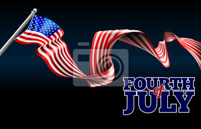 Fourth of July Independence Day American Flag Design