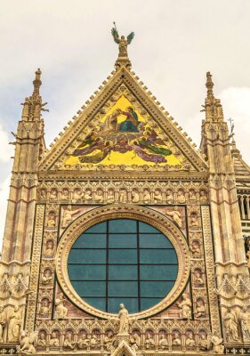 Fragment of  Cathedral of  Assumption of  Blessed Virgin Mary in Siena