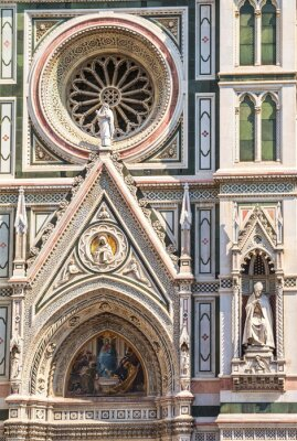 Fragment of the medieval cathedral of Santa Maria del Fiore in Florence