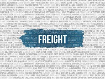 Wall mural freight