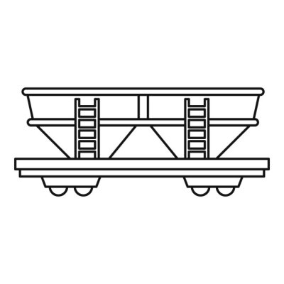 Wall mural Freight railroad car icon. Outline illustration of freight railroad car vector icon for web design
