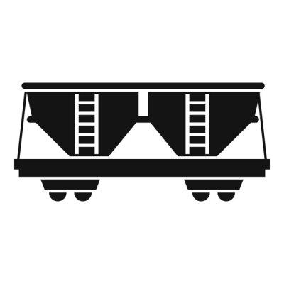 Wall mural Freight railroad car icon. Simple illustration of freight railroad car vector icon for web design