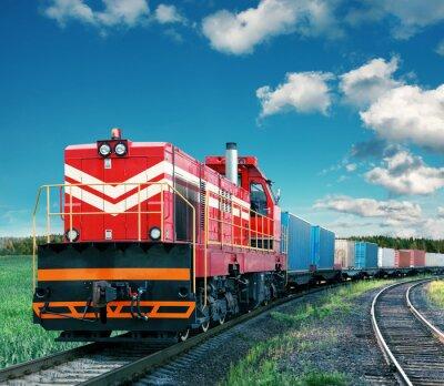 Wall mural freight train