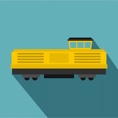 Wall mural Freight train icon icon. Flat illustration of freight train vector icon for web design