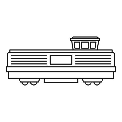 Wall mural Freight train icon icon. Outline illustration of freight train vector icon for web design