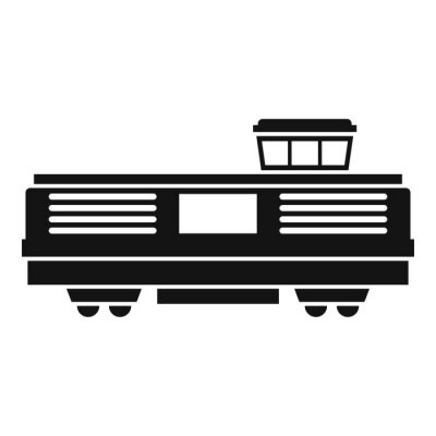 Wall mural Freight train icon icon. Simple illustration of freight train vector icon for web design