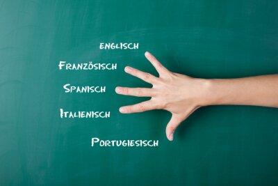 Wall mural fremdsprachen