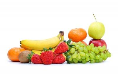 Fresh juicy fruit isolated on a white background.
