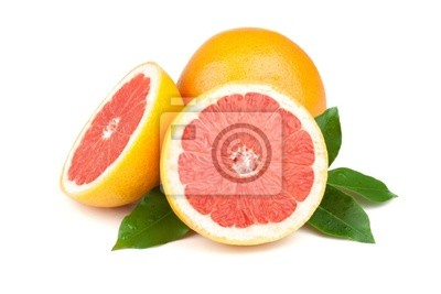 Wall mural Fresh juicy grapefruits