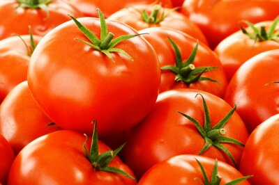 Wall mural Fresh organic tomatoes on street stall