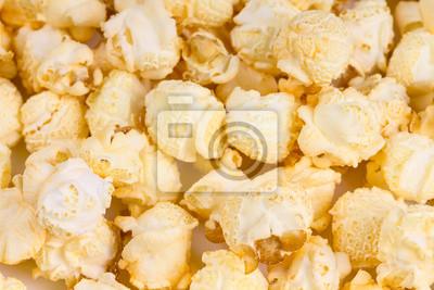 Fresh popcorn close-up