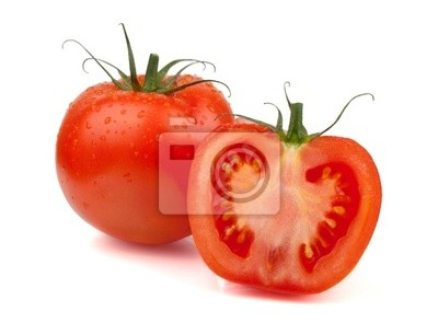 Fresh tomatoes with water drops