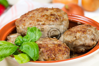 Fried cutlets with basil