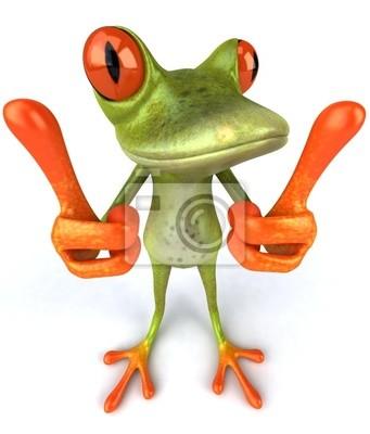 Wall mural frog