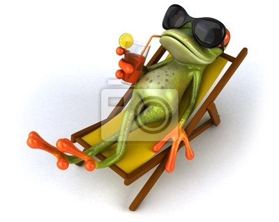 Frog and chaise longue