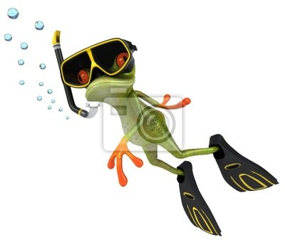 Frog and diving